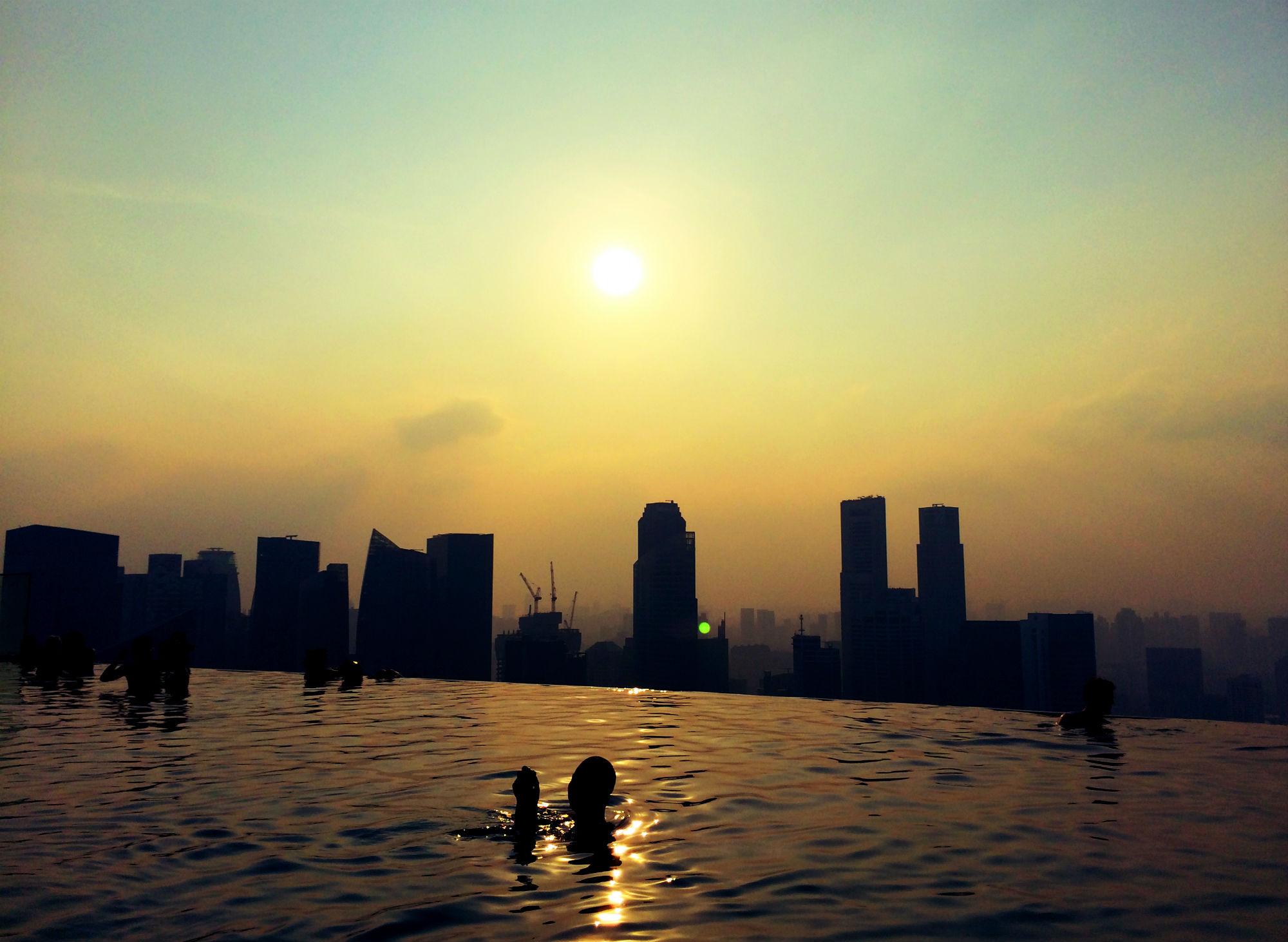 infinity pool singapore night. Infinity Pool At Night. Sundowner. Singapore Night