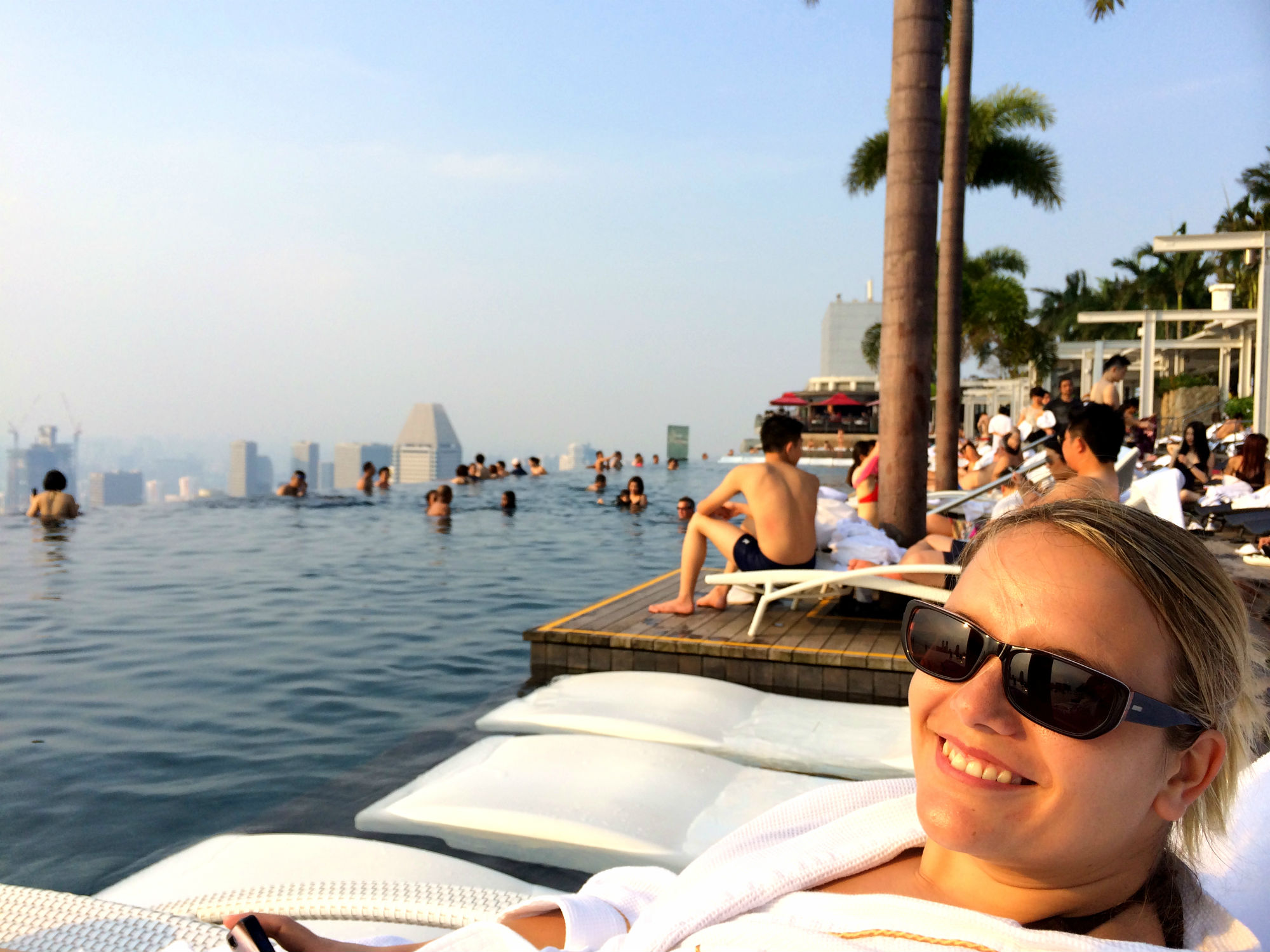 Me at the Infinity Pool, Marina Bay Sands