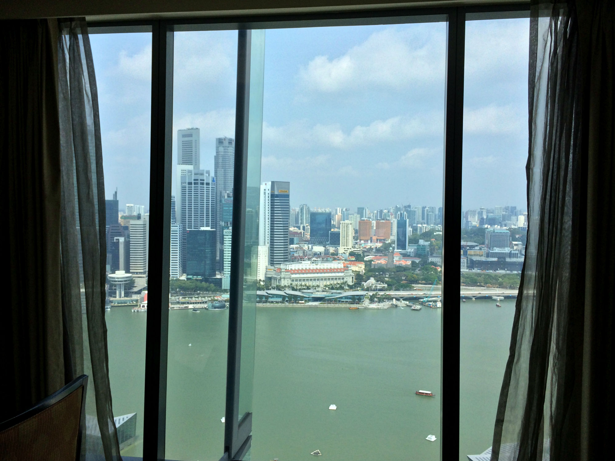 View of Singapore from our hotel room