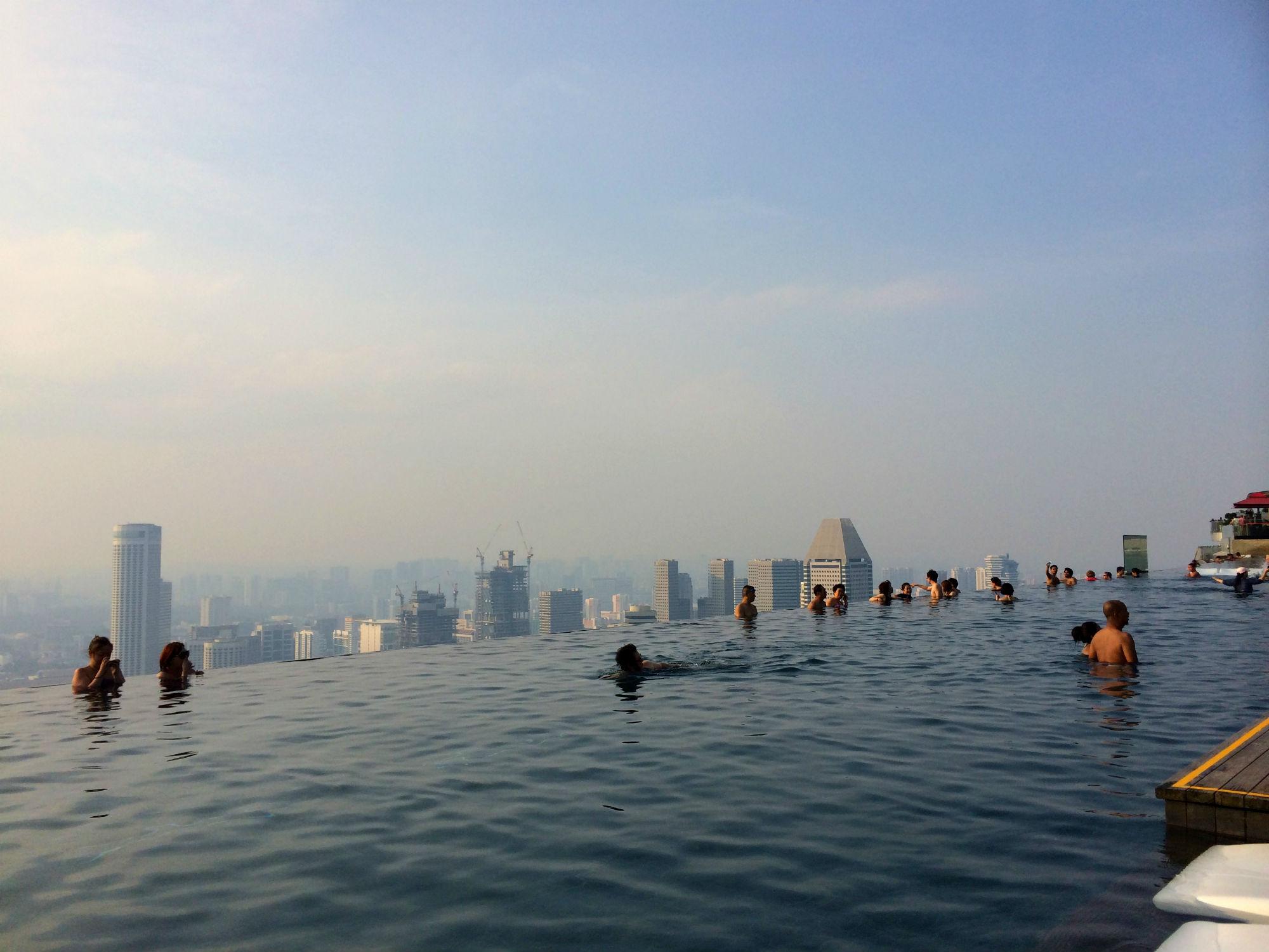Hotel review marina bay sands singapore - Marina bay sands infinity pool ...