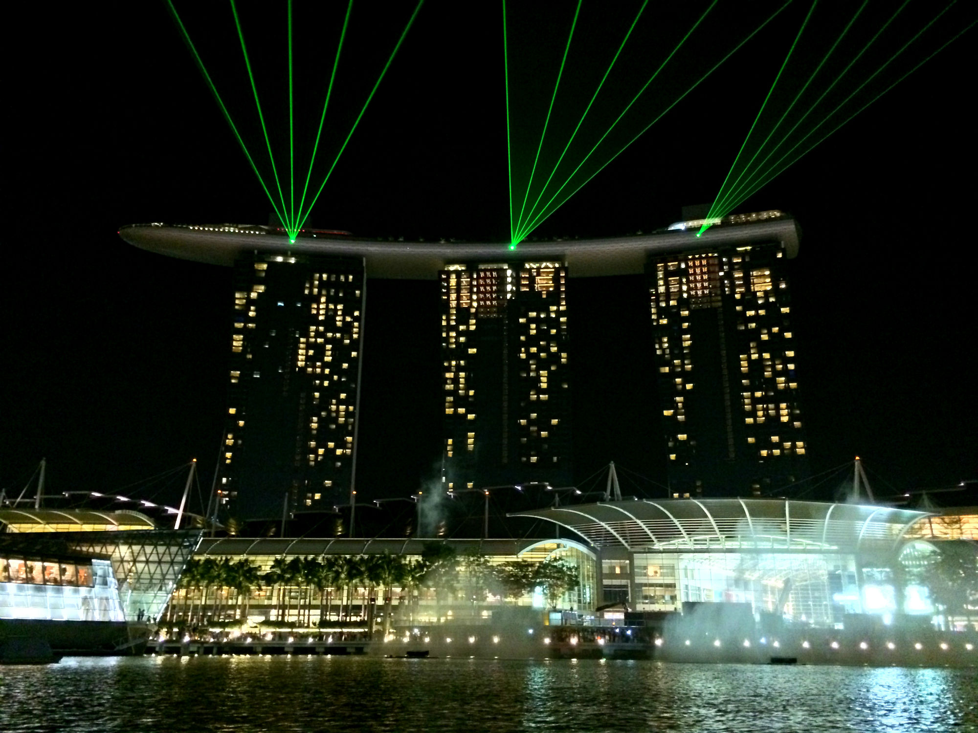 Lasershow, Marina Bay Sands Hotel
