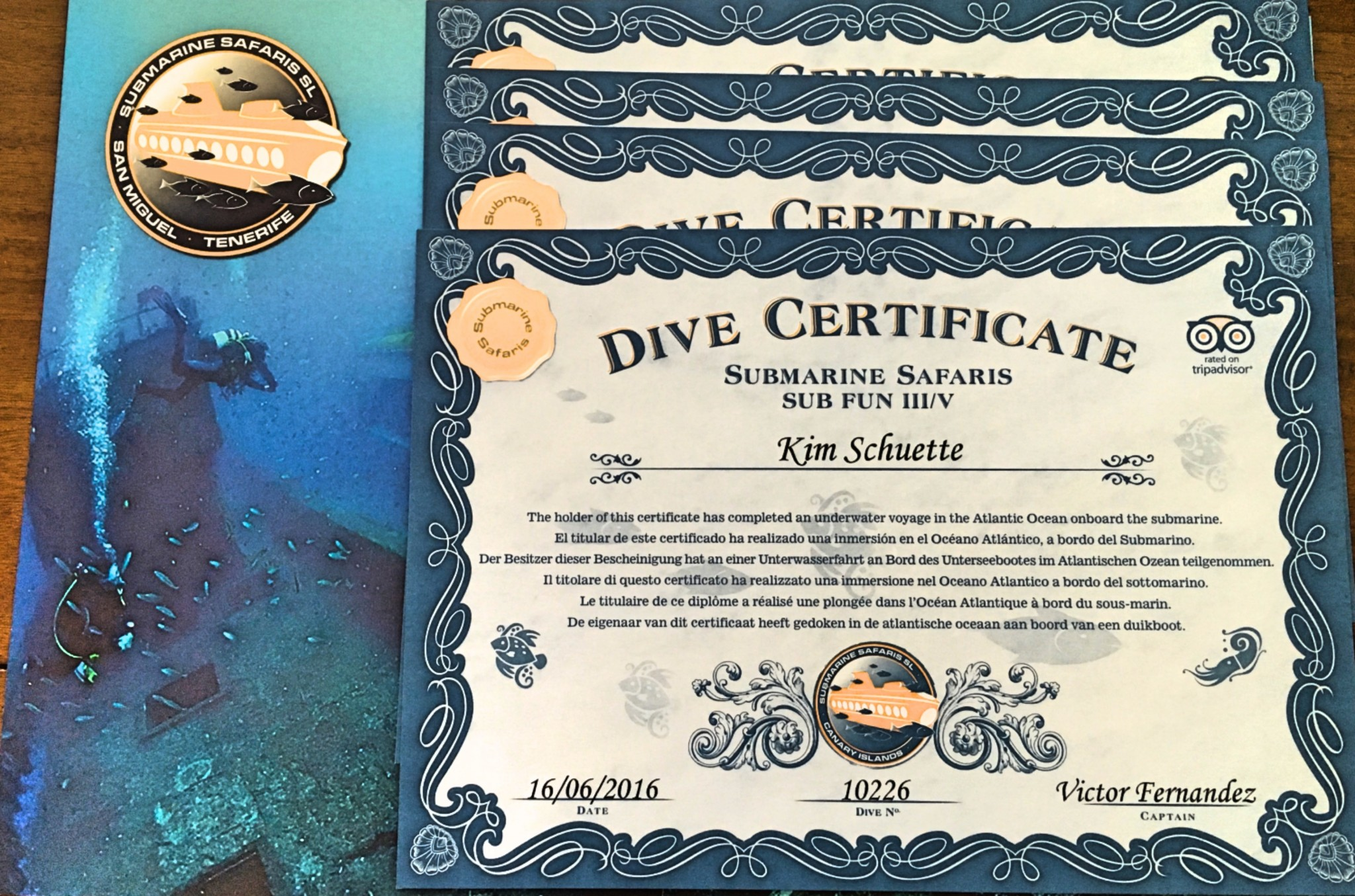 Dive Certificate