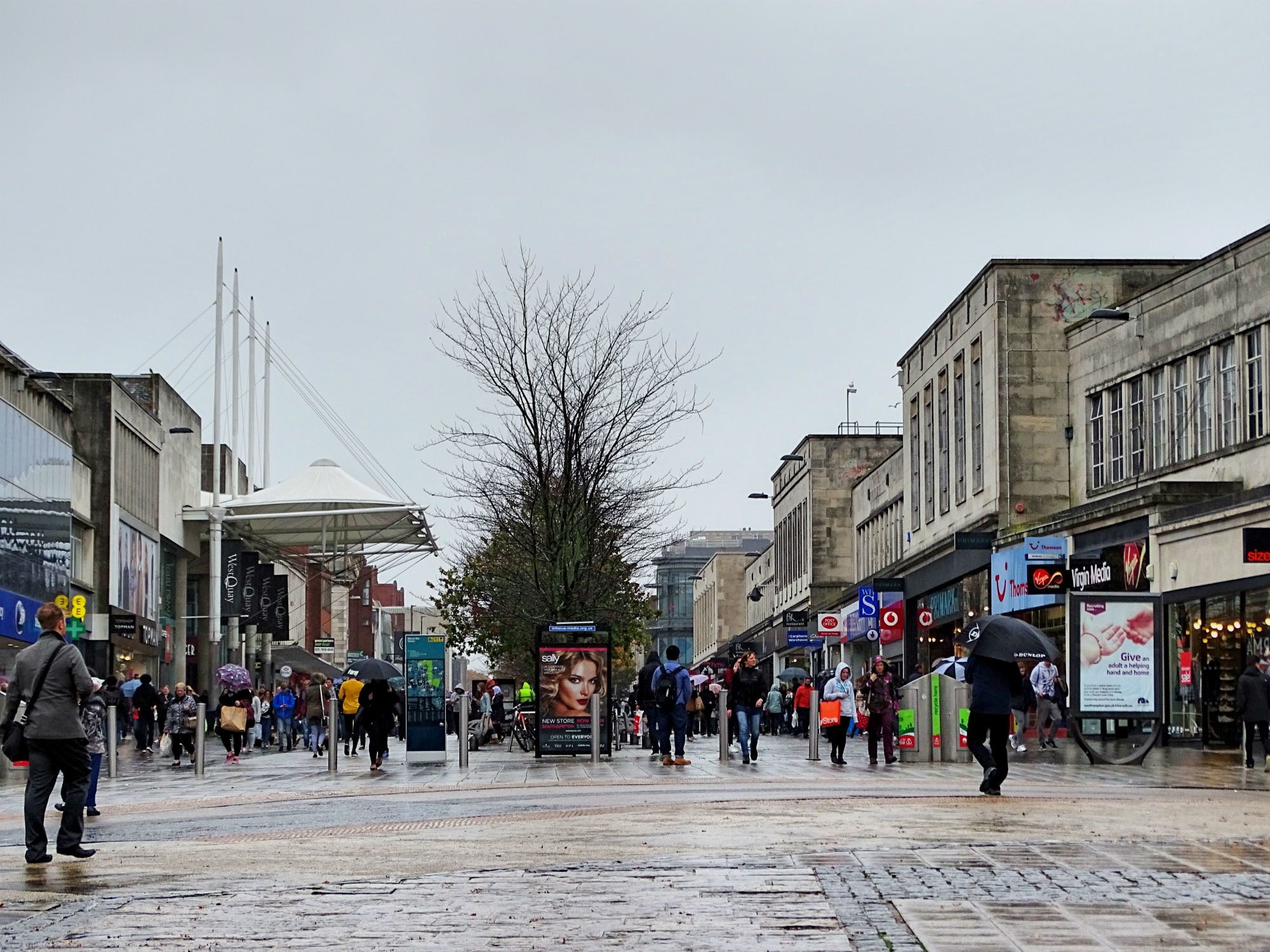 Shopping Street Above Bar Street, Southampton